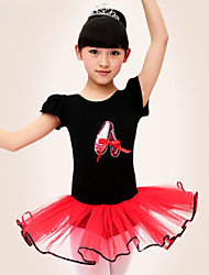 Ballet Dresses Women's Performance/Training Cotton Black/Pink/Purple Kids Dance Costumes