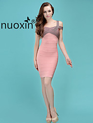 nuoxin® Women's Condole Belt  Low Bosom Cultivate One's Morality Stretch The Bandage Dress