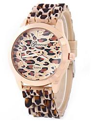 shinuo леопард леопард Женева силиконовые часы силиконовые часы