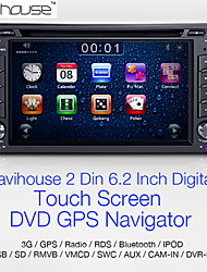 Navihouse  6.2' 2 Din Car DVD Player with GPS 、iPod、RDS、SWC、BT、CAM IN、GAME、 Digital Touch Screen