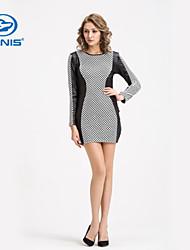 CANIS@Sexy Women's Long Sleeves Summer Short Slim Dress