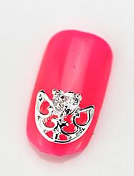 Fashion Design 10PCS RG103 Zircon 3D Alloy Nail art Decoration Diamond Nail Salon Supplier DIY Accessories Decals