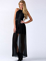 Women's Wrinkled Party Maxi Dress