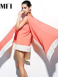 Women's Orange Dress , Sexy Sleeveless