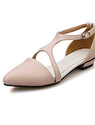Women's Shoes Flat Heel Comfort/Pointed Toe Sandals Office & Career/Dress Black/Pink/White