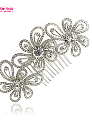 Neoglory Jewelry Popular Flower Hair Comb Hairpins Accessories with Crystal for Lady/BridalWedding/