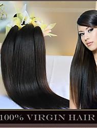"3Pcs Lot 8-30"" Unprocessed 6A Malaysian Virgin Hair Straight Natural Black Human Hair Weave Bundles Soft Thick Full"