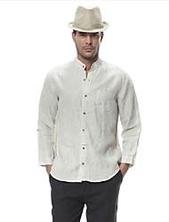 Men's China Style Collar Sleeve Linen Shirt