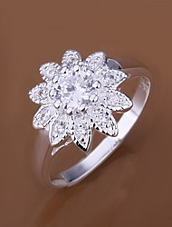 Diamond Sunflower 925 Silver Statement Rings (1pc)