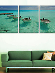 e-home® CANVAS és o mar navio set pintura decorativa, de 3 de