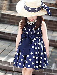 Kid's Casual/Cute/Party Dresses (Cotton Blend)