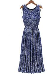 Women's Bohemian Long dress Retro Floral Dress