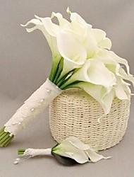 """Bouquets de Noiva Redondo Buquês Casamento Poliéster / Cetim / Renda / Enfeite / Strass 9.45""""(Aprox.24cm)"""