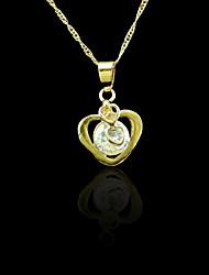 18k verdadeiro pingente banhado a ouro coração 1,7 * 2,7 centímetros