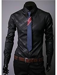Tay-lor Men's Casual Shirt Collar Long Sleeve Casual Shirts