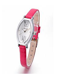 Women's Bucket Shape Fashion Analog Gnueine Leather Watch(Assorted Colors)