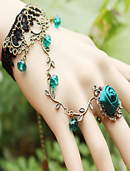 Europe and The United States Retro Flower Vine Spirit Temperament Lace Bracelet With Crystal Lolita.
