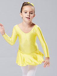 Ballet Dresses&Skirts/Tutus & Skirts/Dresses Children's Performance/Training Cotton 1 Piece Kids Dance Costumes