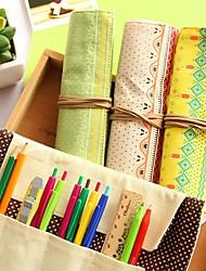 sac à la mode simple toile de frissons trois bois de crayon (couleur aléatoire)