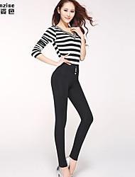 Pantalon Aux femmes Slim Décontracté/Travail/Grandes Tailles Spandex/Polyester Elastique