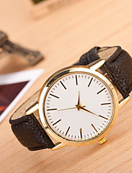 Men's Women's Sport Watch Dress Watch Fashion Watch Wrist watch Large Dial Quartz Genuine Leather Band Charm Multi-Colored