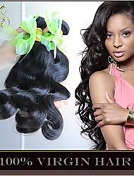 """3 Stück Menge 8 """"-30"""" unverarbeitete 6a brasilianische reine Haarkörperwelle natürliche schwarze remy Menschenhaar Webart Bündel"""