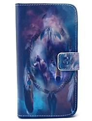 EFORCASE Wolf Campanula Painted PU Phone Case for Galaxy S6 edge S6 S5 S4 S3 S5 mini S4 mini S3 mini