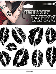 Sex Lip Temporary Tattoo Stickers One(pcs) Size 17*16cm