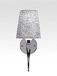 Silver Bedside Lamp Reading Wall Lamps Plumbing Trap Background Mirror Light