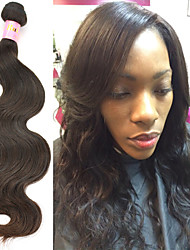"3 pcs/lot 8""-34"" unprocessed Indian Virgin Hair natural black color body wave,no tangle no shedding Free Shipping"
