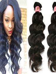 3Pcs/Lot 8''~34'' Natural Black Color Peruvian Natural Wave Hair Weave