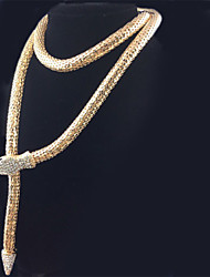 Women's European and American fashion explosion models serpentine snake Necklace with Diamond Snake Yaolian