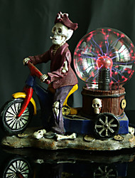 Resin Crystal Ball Ghost And Motorcycle LED Lamp