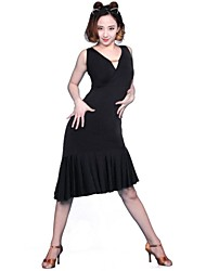 Latin Dance Dresses&Skirts Women's Performance/Training Chinlon/Spandex