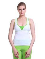 Mulheres Ioga tops / Colete / Moletom Sem Mangas Respirável / wicking / Compressão / Materiais Leves Branco Ioga / Pilates / FitnessS / M