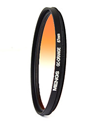 mengs® 67 milímetros filtro graduado laranja para canon nikon sony fuji pentax olympus etc câmera digital DSLR