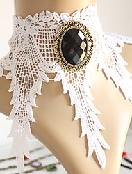 Vintage/Party Alloy/Gemstone & Crystal/Fabric Collar