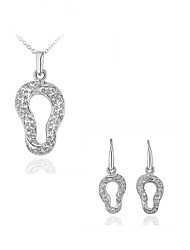 Arinna Fashion Jewelry Set Women 18k white gold Plated clear crystal Necklace & Earrings Gift Set G1364