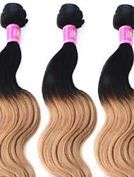 "3 Pcs/Lot 12""-26"" 100% Peruvian Unprocessed Virgin Human Hair #1B-27 Color Ombre Body Wave Hair Weft"