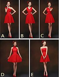 mezclar& vestidos de partido corto de mini gasa / y encaje 5 estilos vestidos de dama de honor (2840151)