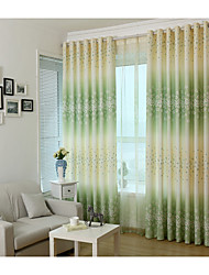 Country Curtains® One Panel Green Floral Print Curtain