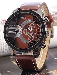 banda analógica couro relógio esportivo de quartzo dos homens Alston (cores sortidas)