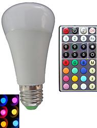 10W E26/E27 Ampoules Globe LED A80 3PCS LED Haute Puissance RGB lm RVB Décorative Gradable Commandée à Distance AC 85-265 V 1 pièce
