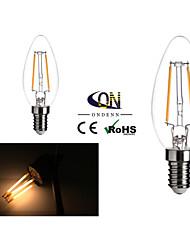 2 Stück ONDENN E12 2 COB 200 LM Warmes Weiß A60(A19) edison Vintage LED Glühlampen AC 110-130 V