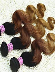 3pcs / lot brasilianische reine Haarkörperwelle drei Klangfarbe # 1b / 33/27 ombre Haarverlängerungen unbearbeitete Haare weben