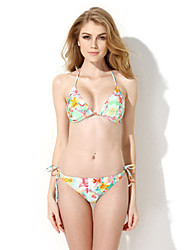 New Sexy Floral Triangle Top with Classic Cut Bottom Bikini Swimwear in Low Price