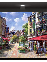 Stretched Canvas Print Art The Corner of The Street
