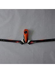 NEASTY Full Carbon Fiber Mountain Bike Stem Handlebar 3K Orange and White Painted Stem Handlebar