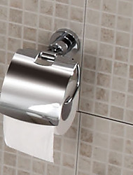Copper Open Toilet Roll Tissue Holder - Silver