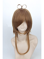 Angelaicos Women Card Captor Sakura KINOMOTO SAKURA CHAN Girl Short Brown Halloween  Costume Cosplay Wig